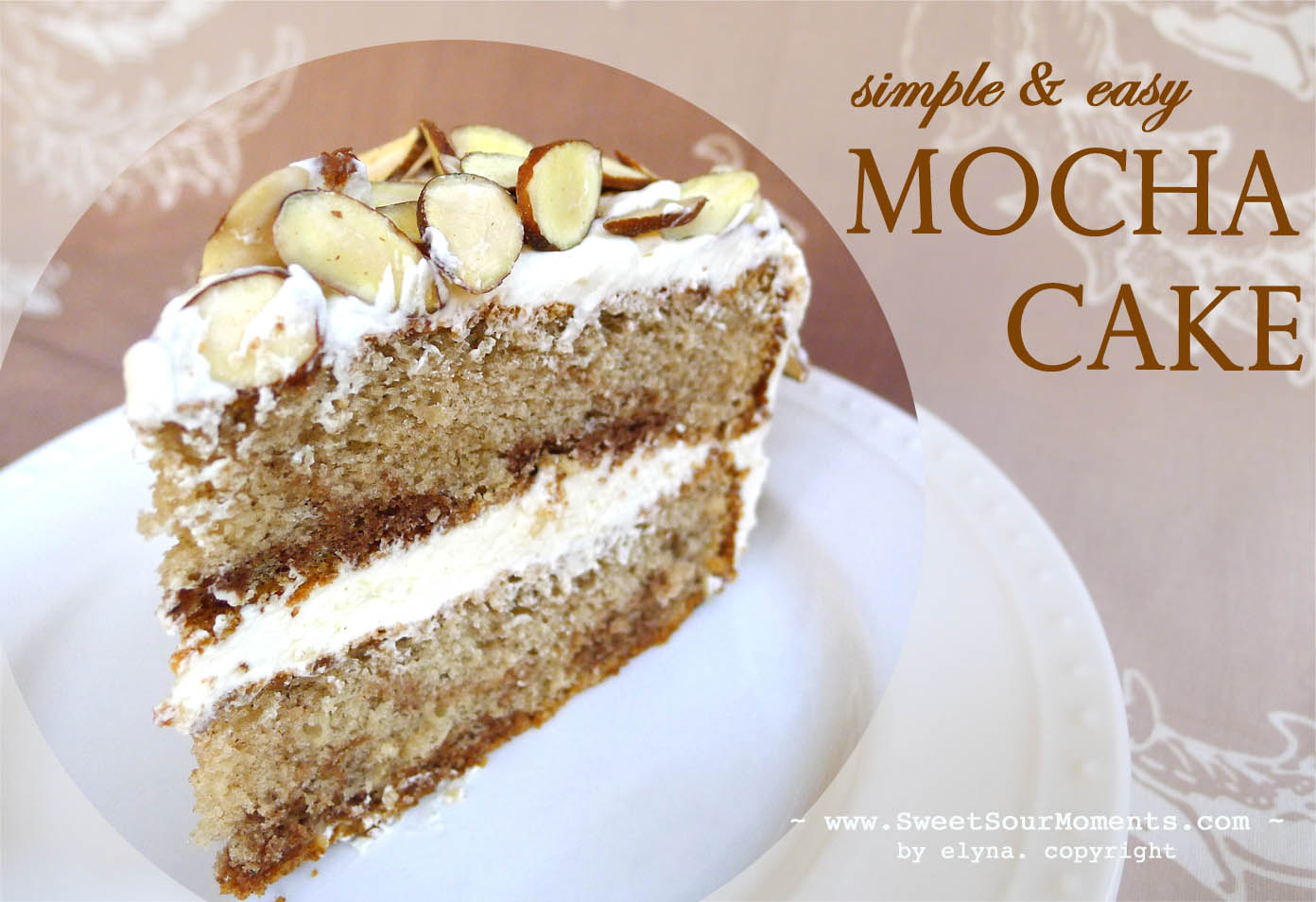 Simple & Easy Mocha Cake | SweetSourMoments