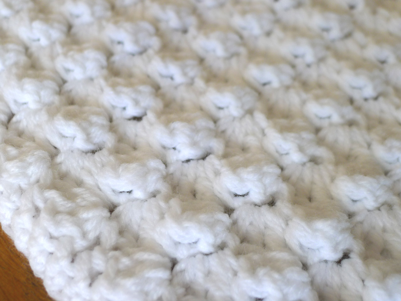 Crochet Stitches With No Holes : Cotton Candy Baby Blanket - DIY crochet