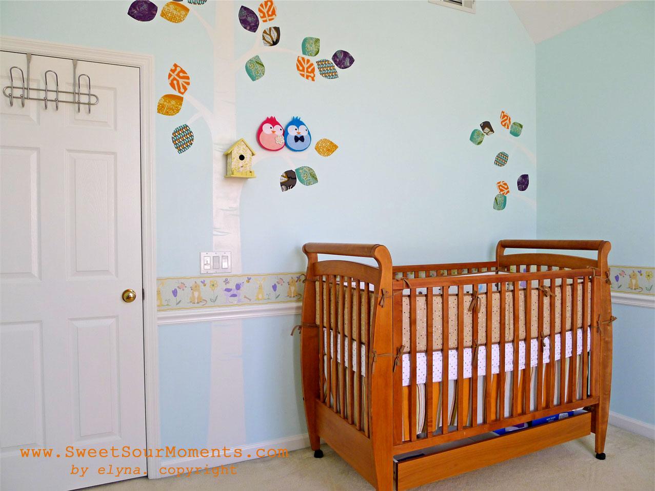 Baby Nursery part 1 Wall Mural DIY SweetSourMoments : baby nursery wall 1 from sweetsourmoments.com size 1277 x 958 jpeg 216kB