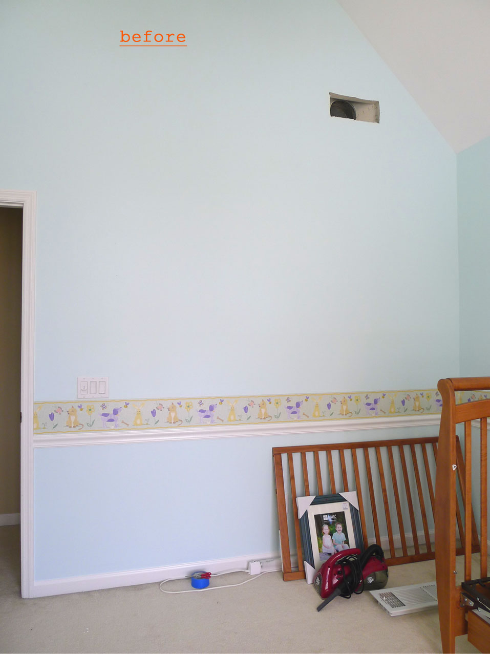 Baby nursery part 1 wall mural diy sweetsourmoments baby nursery wall 2 amipublicfo Choice Image