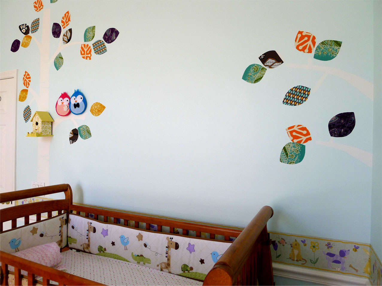 Diy Wall Decor For Baby : Baby nursery part wall mural diy sweetsourmoments