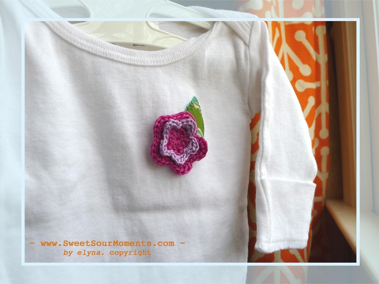 Baby shirt crochet applique u diy sweetsourmoments