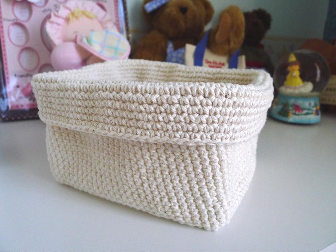 Crochet Rectangle Basket Pattern Free : SweetSourMoments