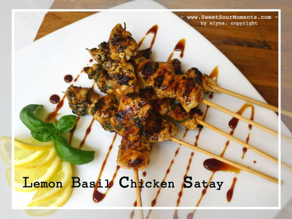 Lemon Basil Chicken Satay