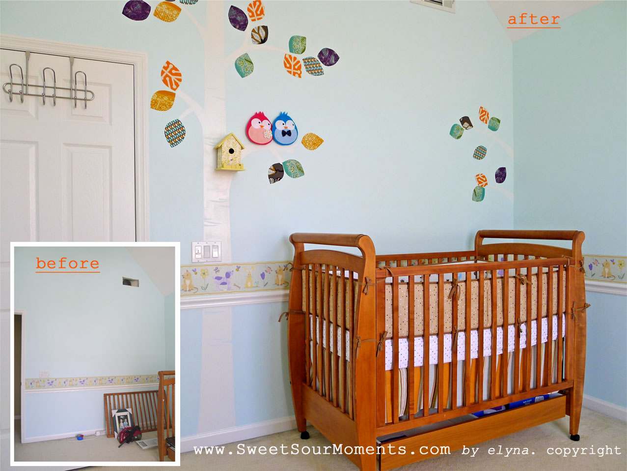 baby room reveal diy project sweetsourmoments wall mural fb