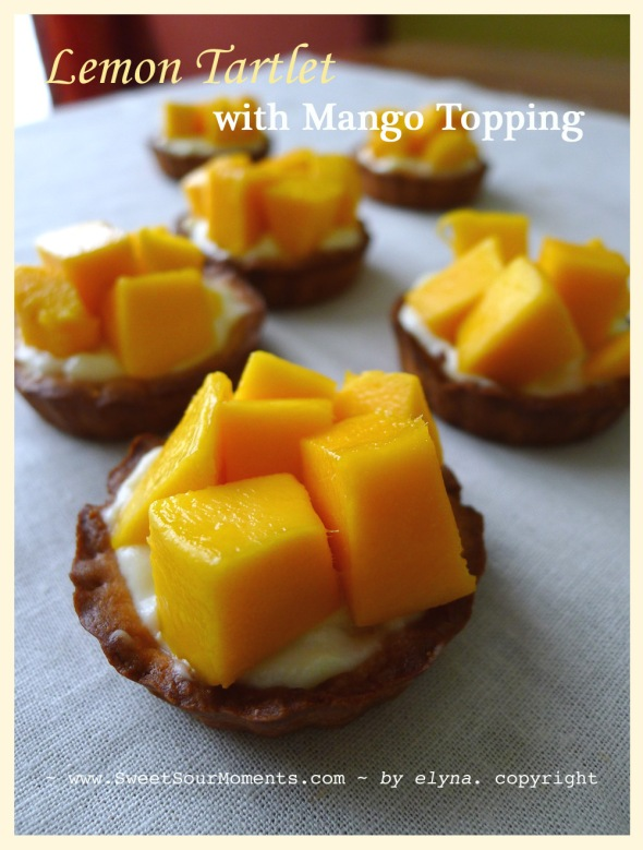 lemon tartlet with mango 1