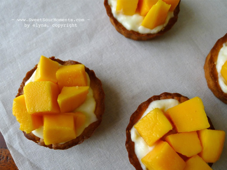 lemon tartlet with mango 2