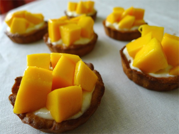 lemon tartlet with mango 3