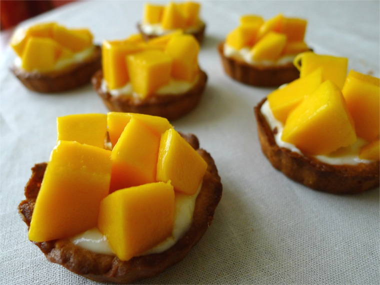 lemon tartlet with mango 3