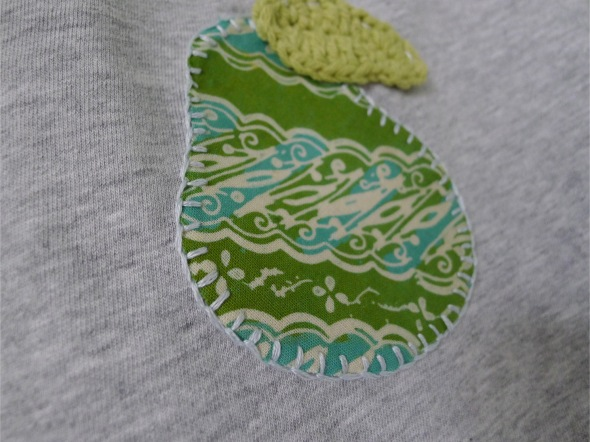 Pear applique 2