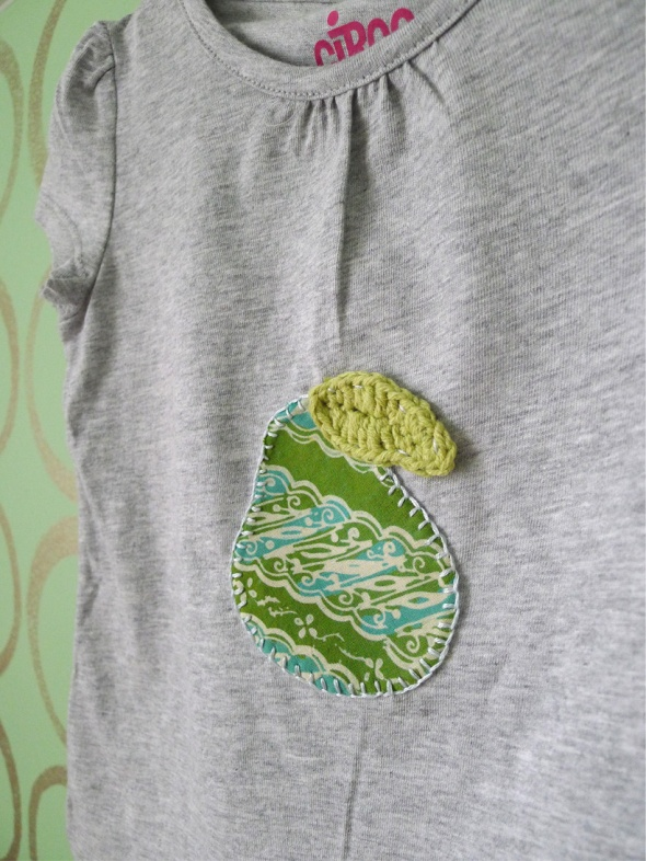 Pear applique 3