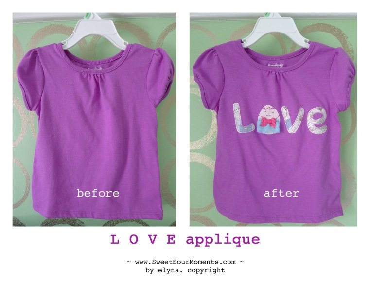 Love applique
