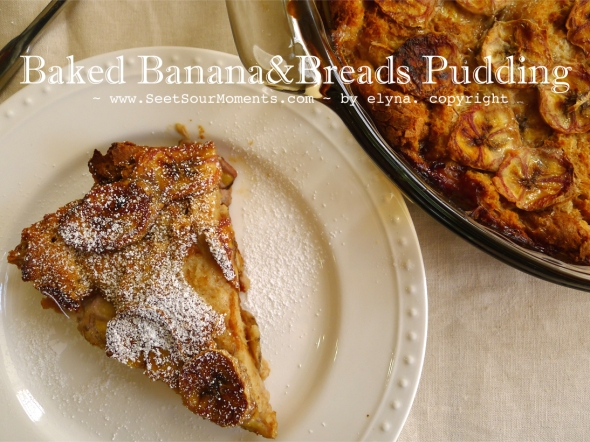 Baked banana bread 1