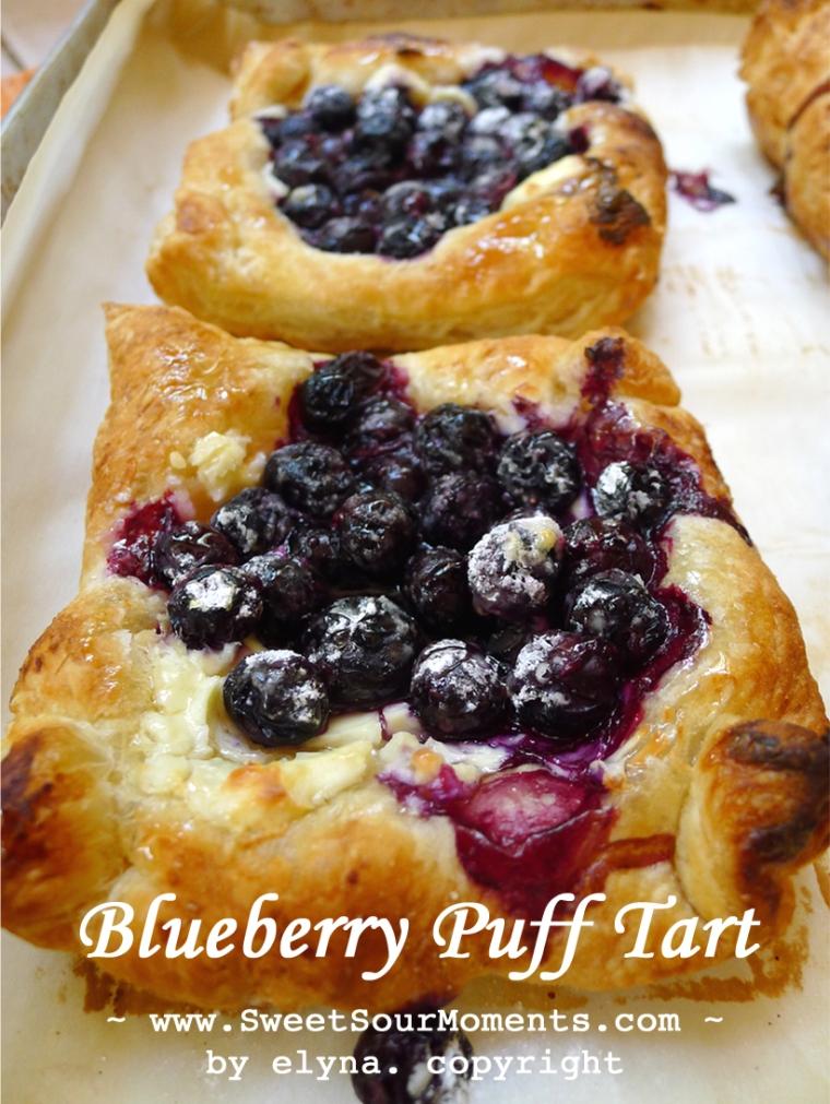 Blueberry puff tart 1
