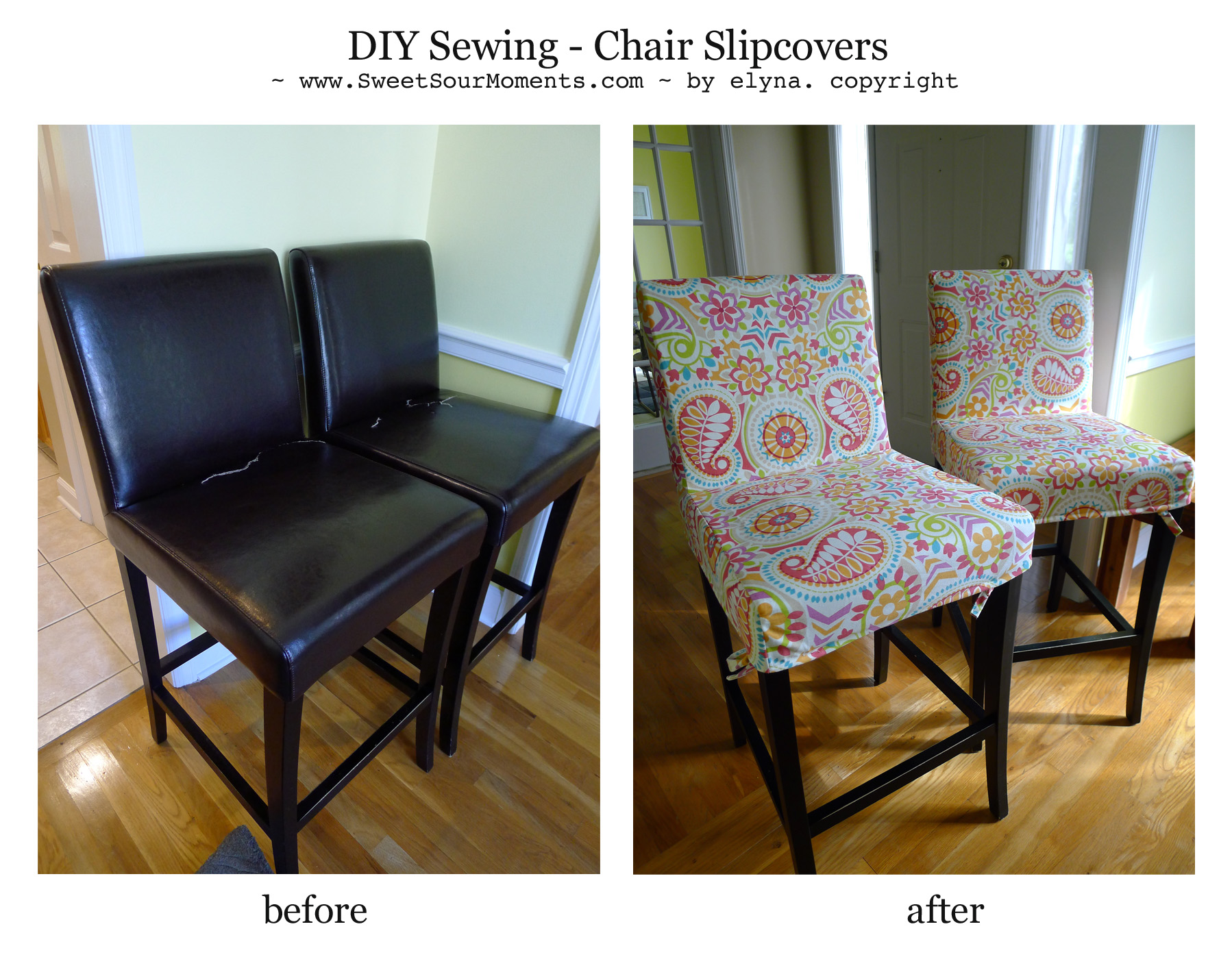 diy sewing chair slipcovers sweetsourmoments diy sewing chair slipcovers