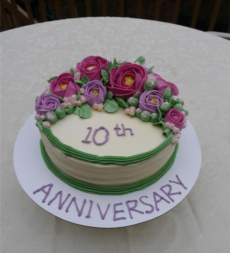 10 anniversary cake 1