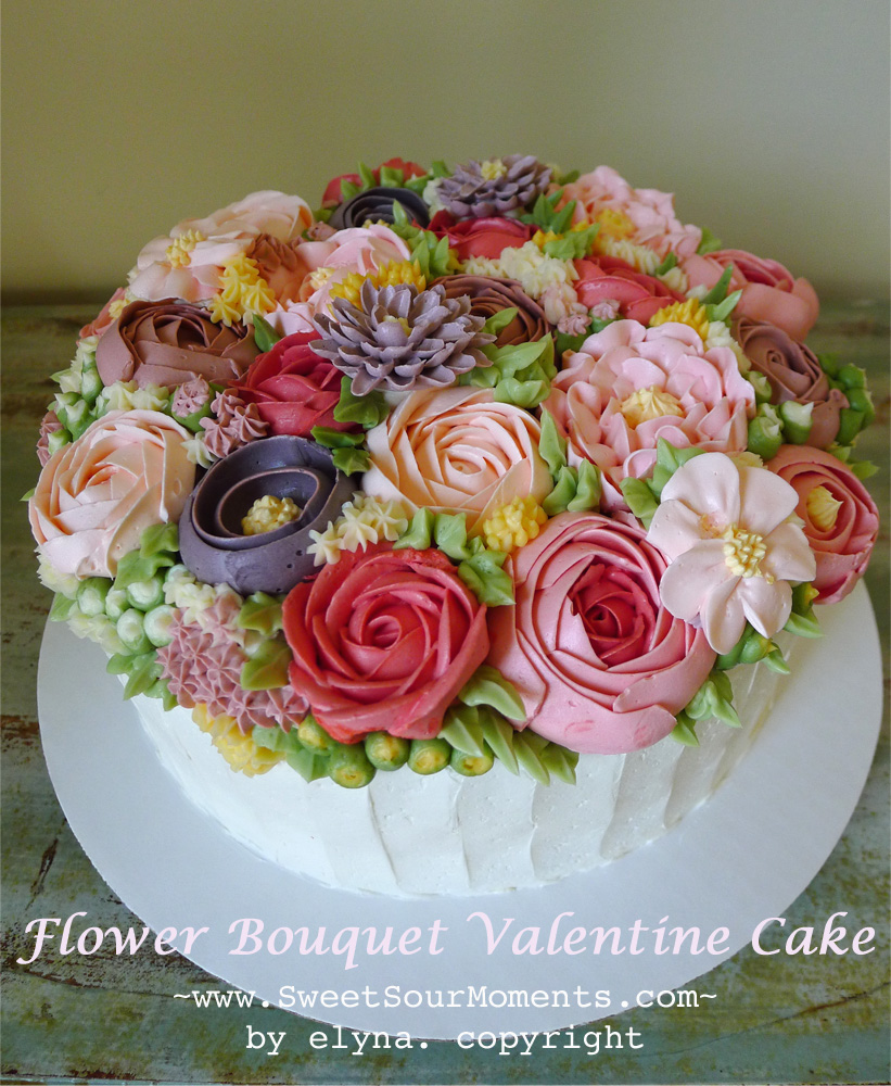 Flower Bouquet Valentine Cake Sweetsourmoments